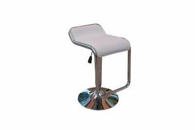 White Adjustable Barstool