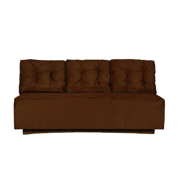 "Chocolate Suede 87"" Sofa 1007"