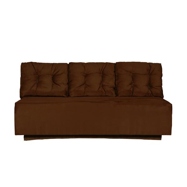 "Chocolate Suede 72"" Sofa 1018"