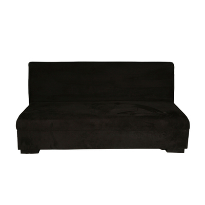 Black Suede Armless Sofa