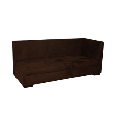 Chocolate Suede Left Arm Sofa