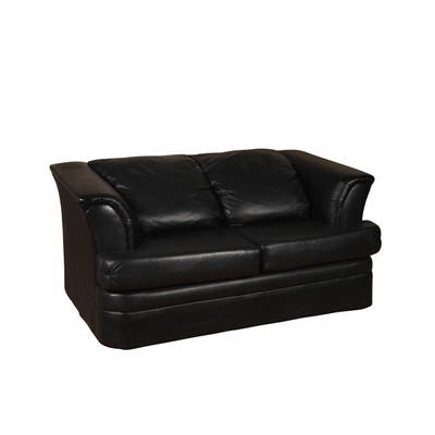 Black Retro Loveseat