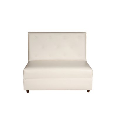 White Button Loveseat