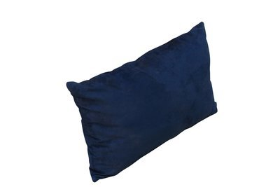 Pillow - Royal Blue Suede Lumbar