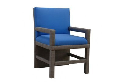 Solid Back Chair With Arms