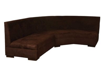 Chocolate Suede Corner Sofa