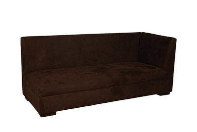 Chocolate Suede Right Arm Sofa