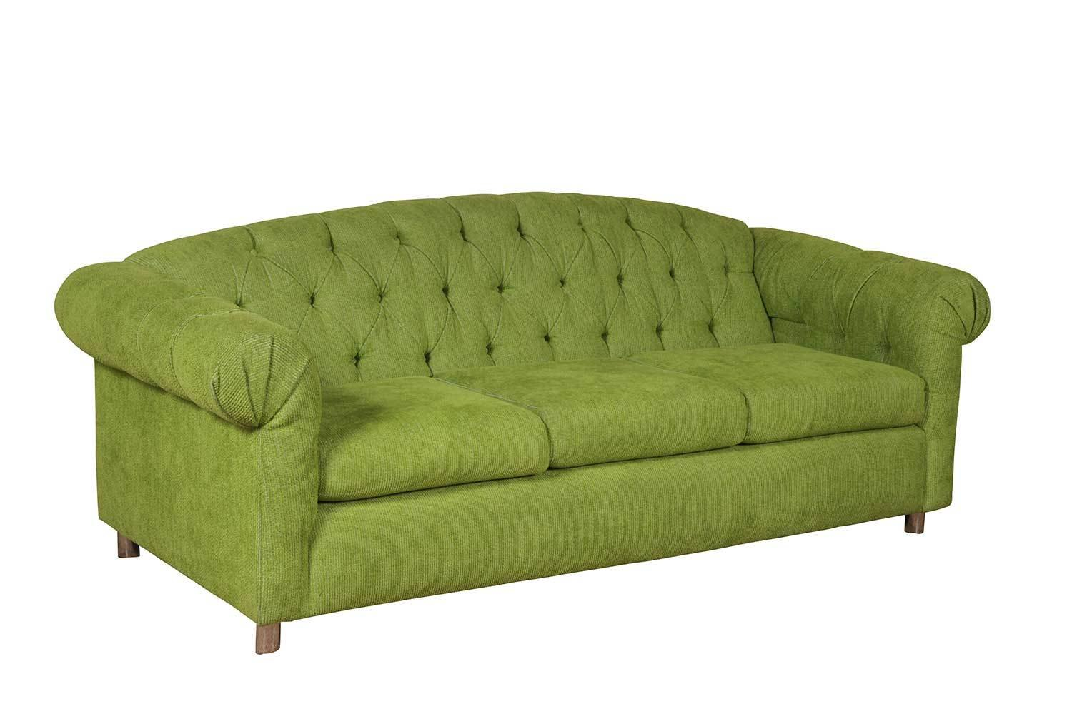 Lime Velour Sofa 1078