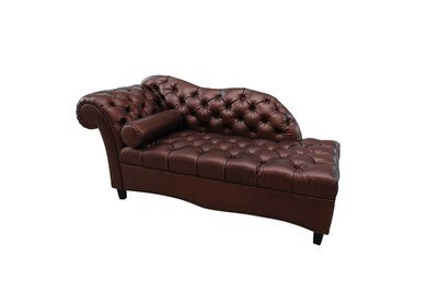 Metallic Tufted Chaise