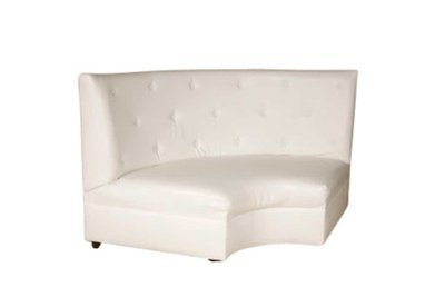 White Button Wedge Loveseat