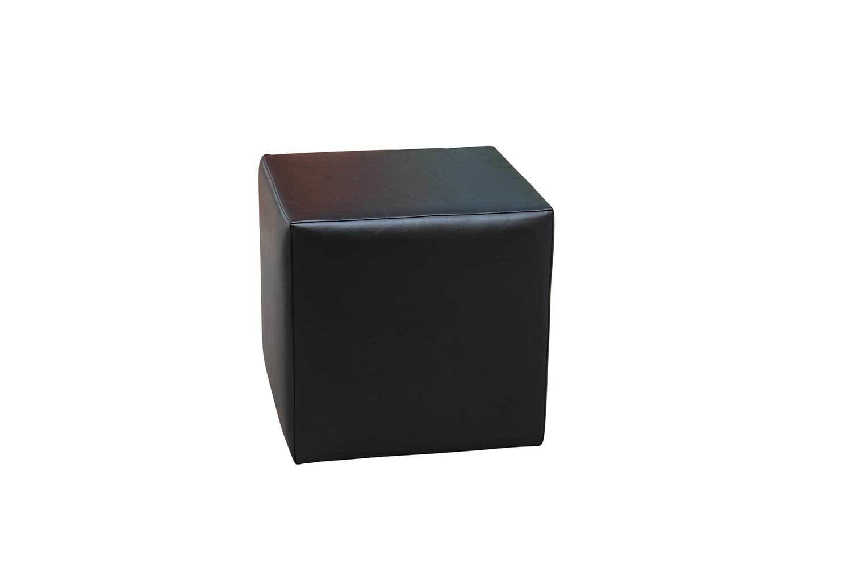 Gunmetal Cube Ottoman 1204