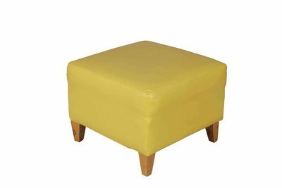 Yellow Square Ottoman