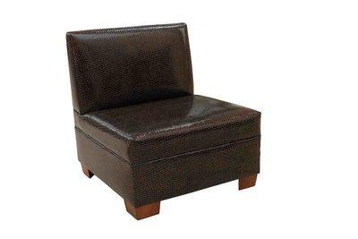 Black & Gold Crocodile Chair