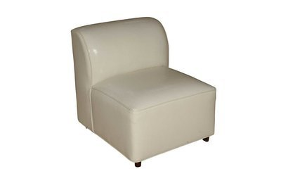 White Patent Modular Chair