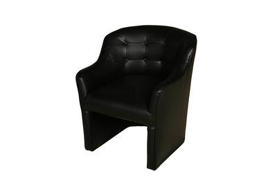 Black Buttoned Chair