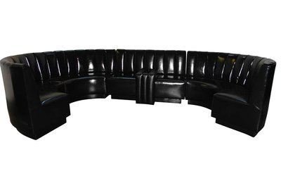 Black Patent Sectional-5 piece