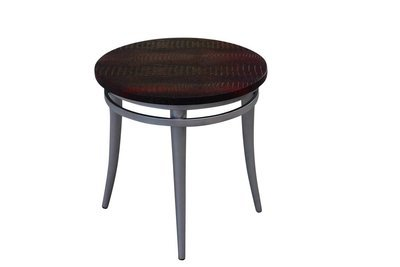 Cherry Steel Round Accent Table