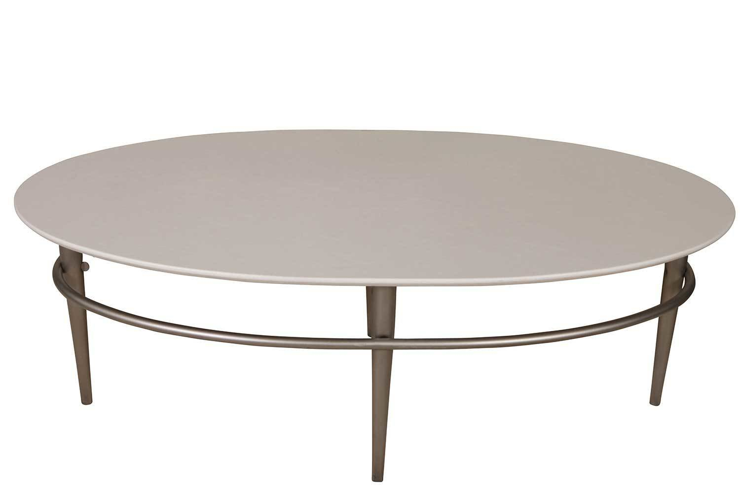 White Steel Oval Cocktail Table 2199