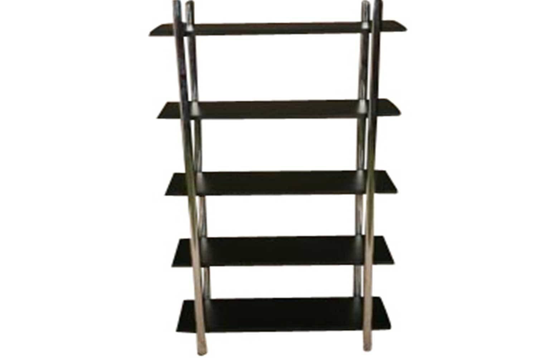 Black Steel 5 Shelf Etagere 2308