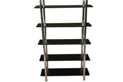 Black Steel 5 Shelf Etagere