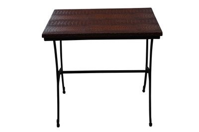 Black Crocodile Accent Table