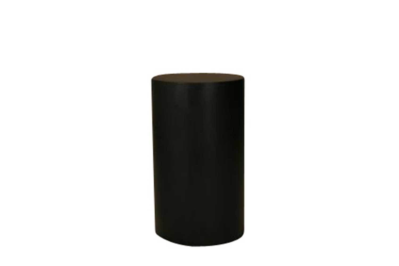 24x30 Black Round Pedestal 2602