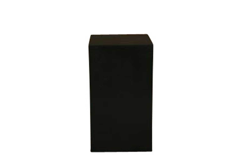 18x18x32 Black Cube Pedestal