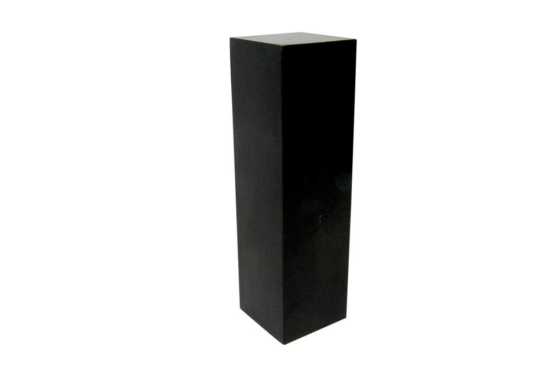 12x12x42 Black Cube Pedestal