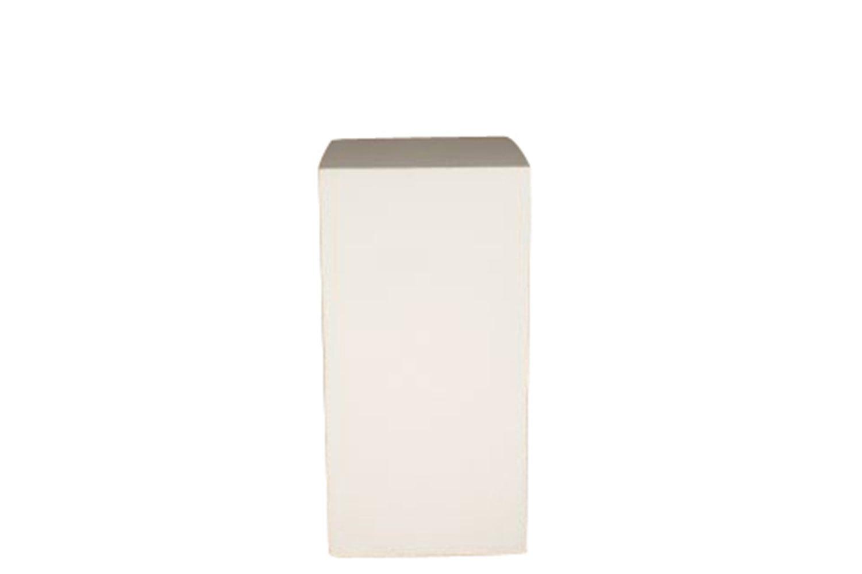 18x18x32 White Cube Pedestal Shop Furniture Somers