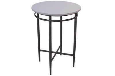 White Steel Pedestal Table