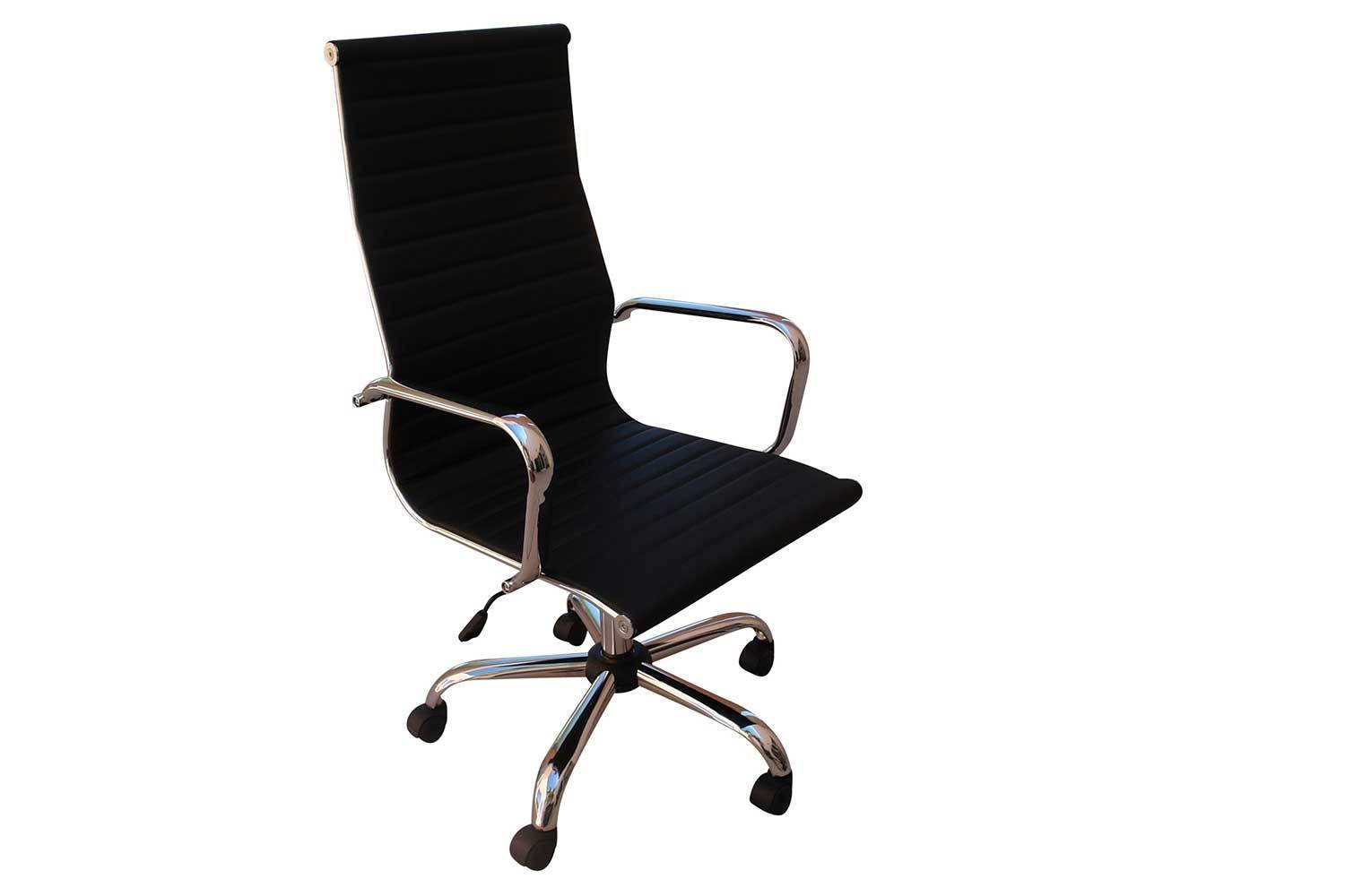 Black Leather High Back Chair 5138