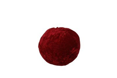 Pillow-Red Velvet Ball