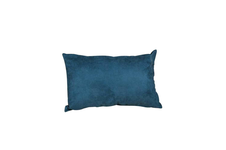 Pillow-Blue Suede Lumbar 6433