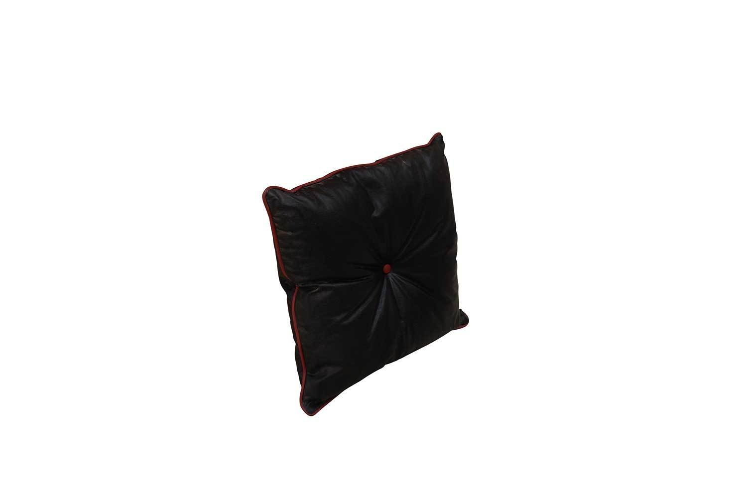 Pillow-Black with Red Piping 6455