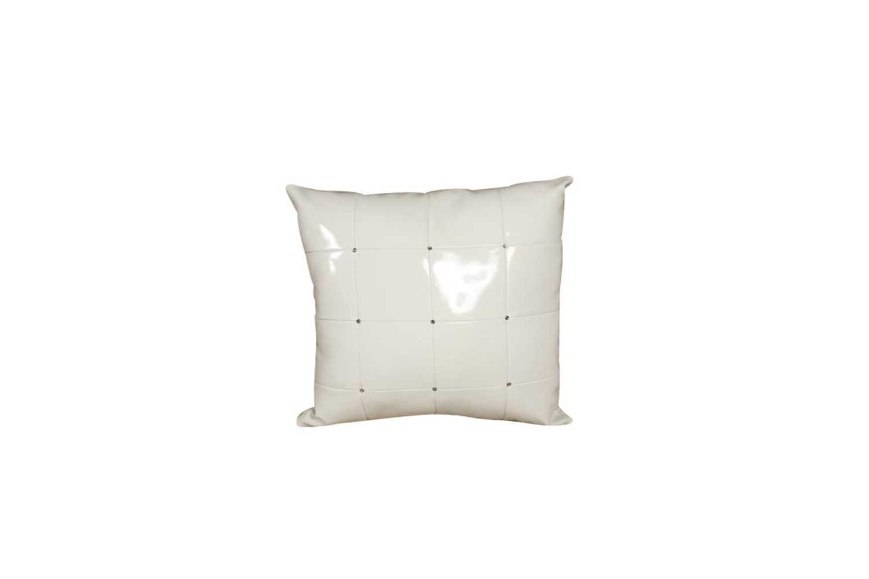 Pillow-White Patent with Rhinestones 6458