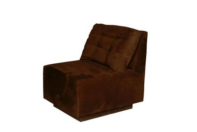 Chocolate Suede Modular Chair