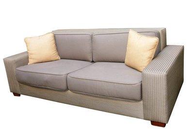 Plush Rattan Sofa