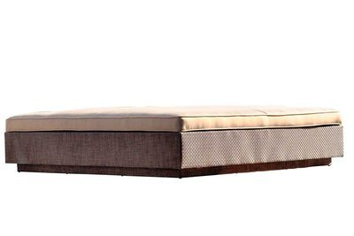 Square Rattan Bed