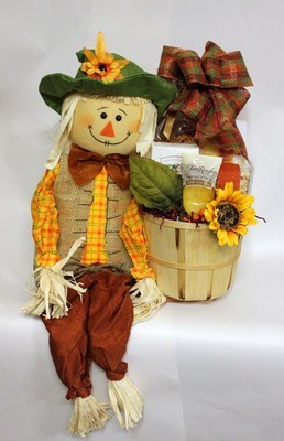Scarecrow Autumn Basket