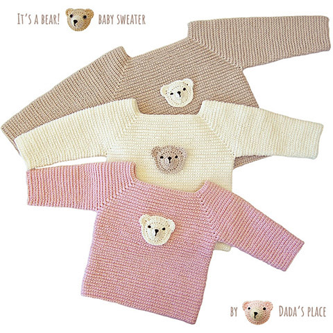 It's a bear! baby sweater 00029
