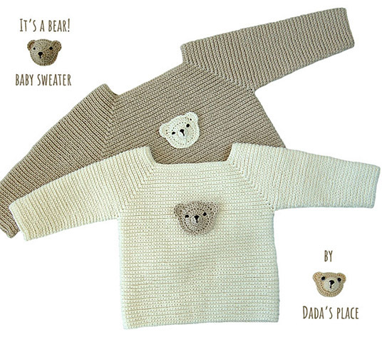 It's a bear! baby sweater