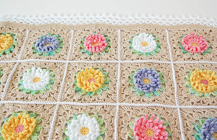 CROCHET PATTERN : English Garden Baby Blanket