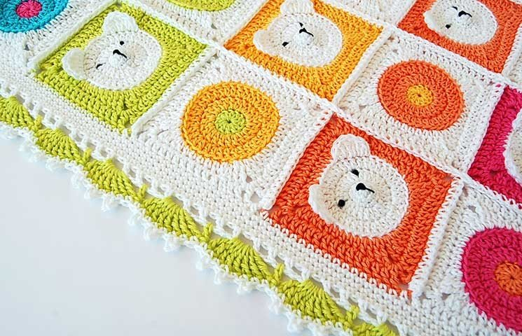 CROCHET PATTERN: Teddy Bear Baby Blanket