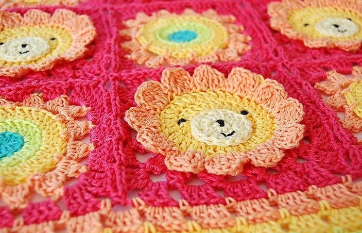 CROCHET PATTERN: Little Lion Baby Blanket 00001