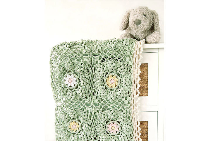 CROCHET PATTERN: How To Be a Wildflower Baby Blanket
