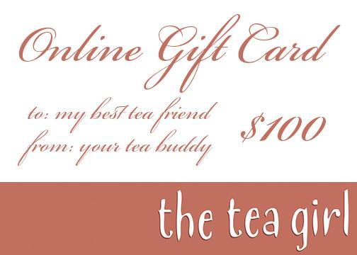 Online Tea Girl Gift Certificates