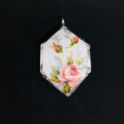 Paragon Elizabeth Rose hexagon pendant