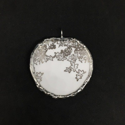 Royal Albert double sided silver pendant