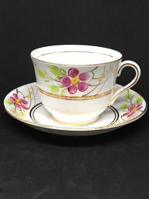 Phoenix Pink Flower Tea Cup