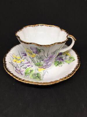 Salisbury 'Violet' Lace Edge Tea Cup